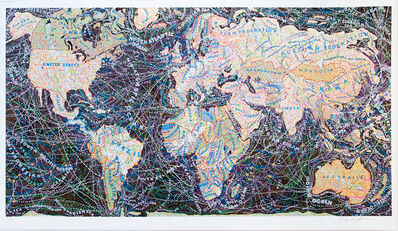 Paula Scher, 'World Trade Routes', 2018