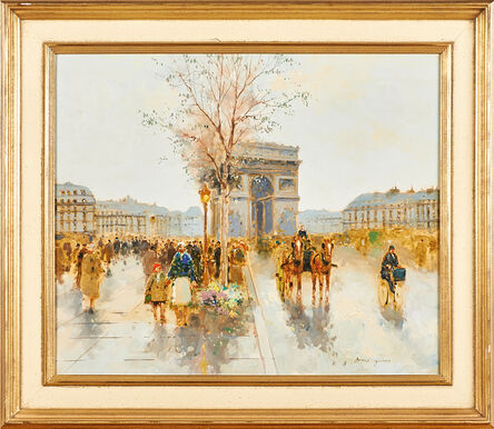 Andre Gisson, 'Two Works: Untitled (Arc de Triomphe) and Untitled (Paris street scene)'