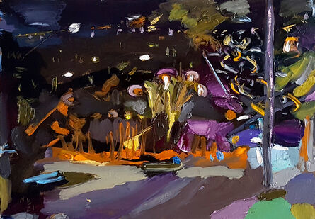 Boaz Noy, 'City Night Out (Emil Habibi sq.)', 2021