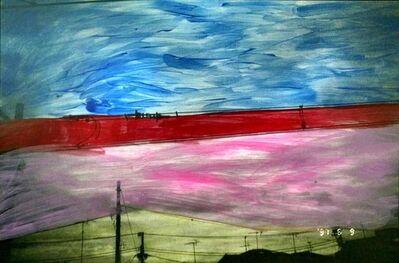 Nobuyoshi Araki, 'Untitled, Painted Photograph, Landscape by Nobuyoshi Araki', 1990-1999