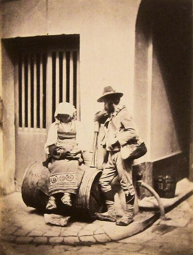 Charles Nègre, 'Pifferari, musiciens ambulants italiens, dans la cour du 21 Quai de Bourbon', 1853