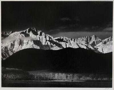 Ansel Adams, 'Winter Sunrise, Sierra Nevada from Lone Pine, California', 1944