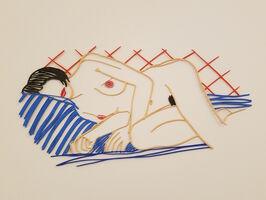 Tom Wesselmann, 'Monica Asleep on Blanket', 2004