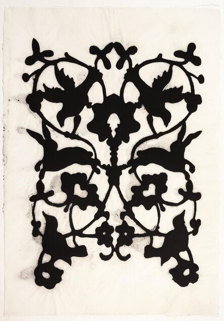 Teresa Cole, 'Birds and Bunnies, Black', 2015