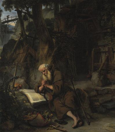 Gerbrand van den Eeckhout, 'A hermit praying', 1663