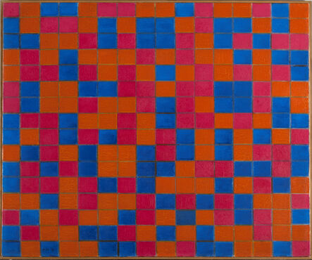 Piet Mondrian, 'Composition with Grid 8: Checker board Composition with Dark Colours', 1919