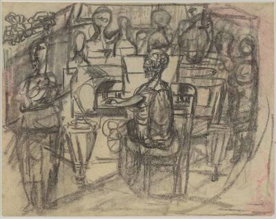 Siri Derkert, 'Elsa Stenhammar vid pianot', ca. 1940