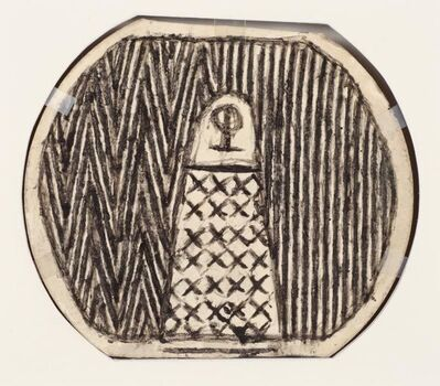 James Castle, 'Untitled (patterned figures, double sided)', n.d.