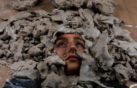 Claire Lambe (British), 'Untitled (Emily in clay)', 2017
