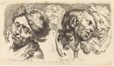 Johann Eleazar Schenau, 'Four Heads', 1765