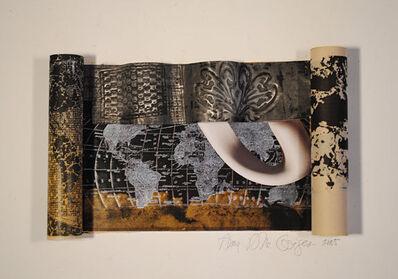 Anna Bella Geiger, 'Rrolo-Scroll com flor antiga DÉCO e xícara de porcelana branca /Rrolo-Scroll with old decoflowerand white porcelain cup', 2005-2012