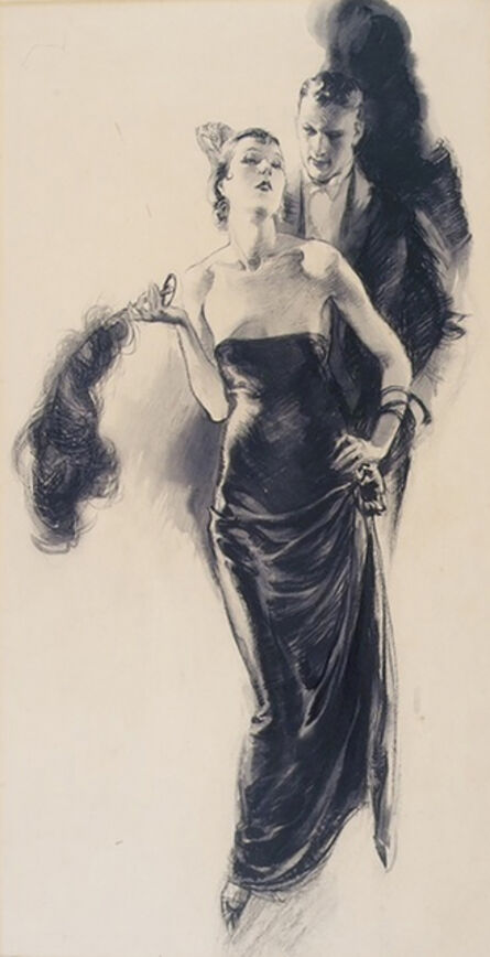 John Lagatta, 'Elegant Woman with Fan', 1929