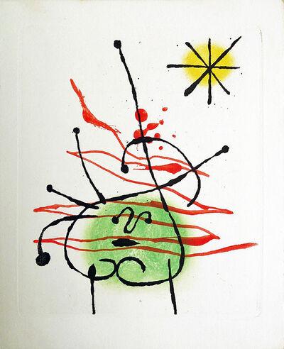 Joan Miró, 'Suite La Bague D'Aurore - plate 4', 1957