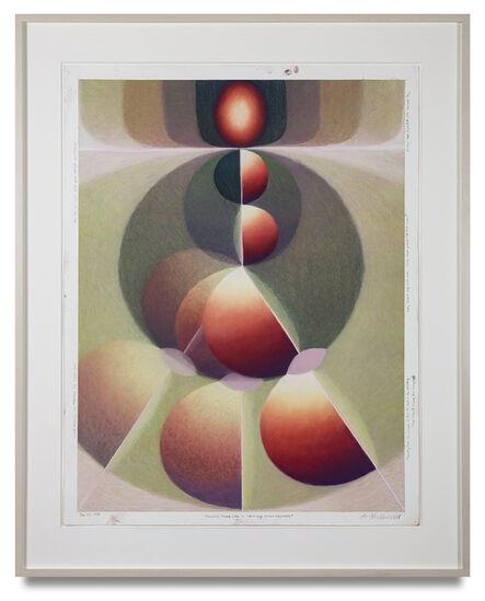 Loie Hollowell, 'Prenatal Plumb Line in red-orange, green and purple', 2020