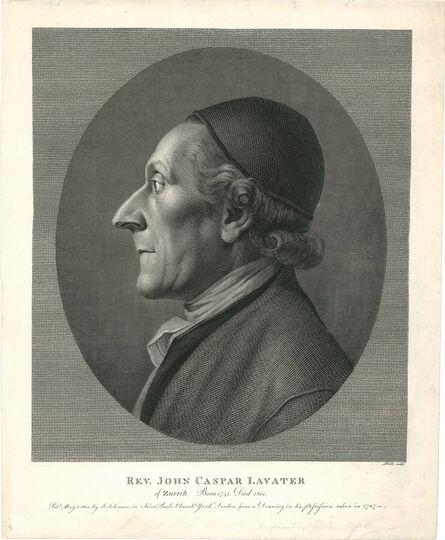 William Blake (1757-1827), 'Rev.John Caspar Lavater', J.Johnson-1 May 1800 [after 1801]