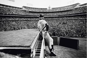 Terry O'Neill, 'Elton John at the Dodgers Stadium 1975', 1975