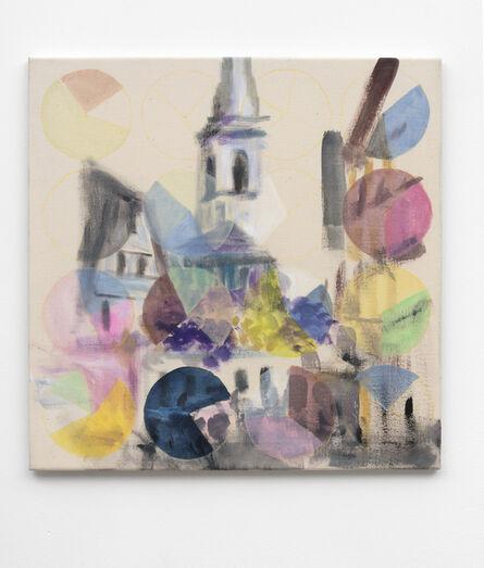 Martin Feldbauer, 'Flying balloons (Kirche im Dorf)', 2016