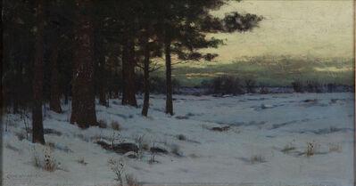 Charles Warren Eaton, 'Snowy Landscape at Dusk', 1890