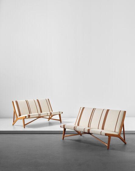 Hans Jørgensen Wegner, 'Pair of benches, model no. JH 555', ca. 1949