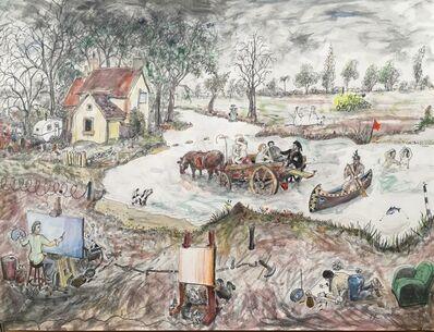 Chris Orr, 'The Miserable Lives of Fabulous Artists, John Constable', 2017