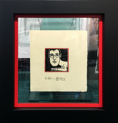 Keith Haring, 'SELF PORTRAIT INVITATION TO DINNER', 1986