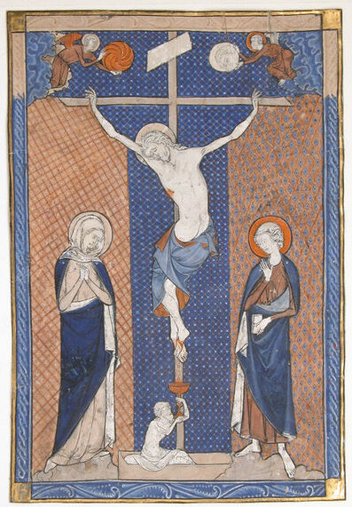 Unknown French, 'Manuscript Leaf with the Crucifixion, from a Missal', ca. 1270–1280
