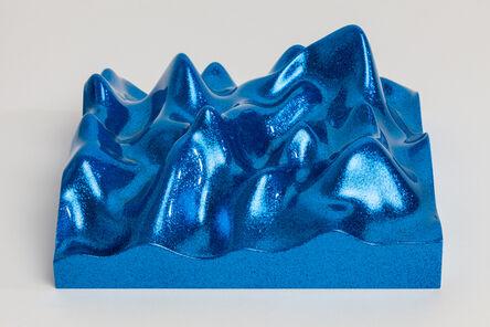 Peter Saville, 'Unknown Pleasure, Metal Flake 011718 Royal blue', 2015