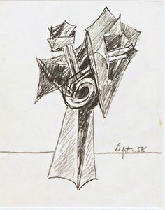 Seymour Lipton, 'Untitled Sculptural Study', 1958