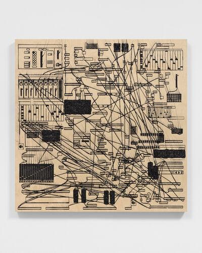 Analía Saban, 'Pleated Ink (Digital Music Synthesizer: Max/MSP) #4', 2021