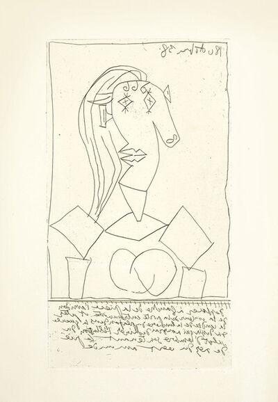 Pablo Picasso, 'Buste de femme a la chaise', 1938