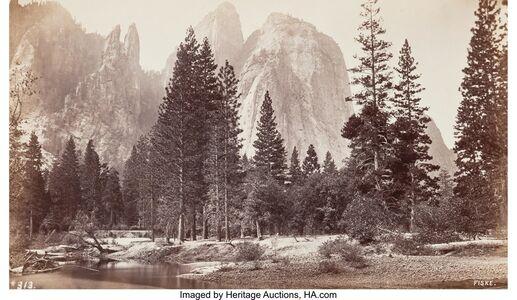 George Fiske, 'Cathedral Rock, Yosemite Valley', circa 1870