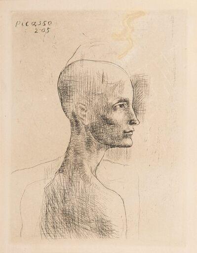 Pablo Picasso, 'Buste d'homme, from la suite des Saltimbanques', 1905