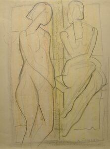 Agnes Weinrich, 'Two Figures', n.d.