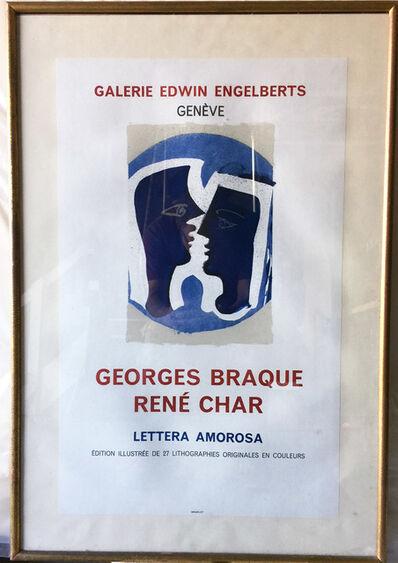 Georges Braque, 'Georges Braque Rene Char, Lettera Amorosa, Galerie Edwin Engelberts, Geneve Original Poster', ca. 1960