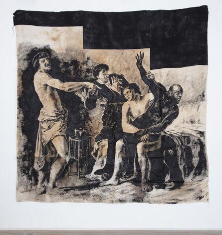 Roméo Mivekannin, 'Le Rapt de la Négresse, d'après Van Couwenbergh', 2020