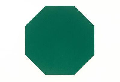 Olivier Mosset, 'Untitled (Green Octagon)', 2010
