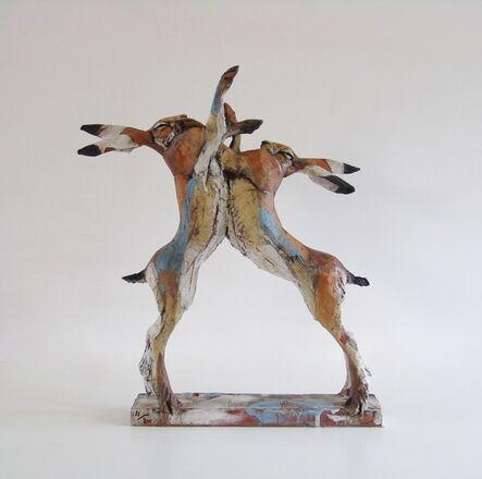 Nichola Theakston, 'Jousting Hares', 2016