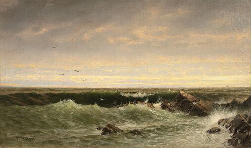 William Trost Richards, 'The Evening Sea, Brigantine, Shoals', Late 19th century