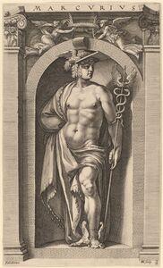 Hendrik Goltzius after Polidoro da Caravaggio, 'Mercury', probably 1592