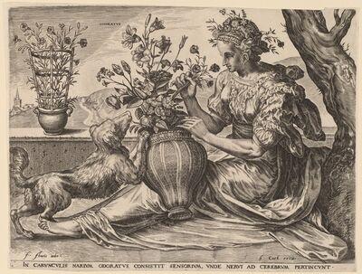 Cornelis Cort after Frans Floris I, 'Odoratus', 1561