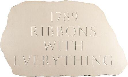 Ian Hamilton Finlay, '1789 Ribbons with Everything', 1994