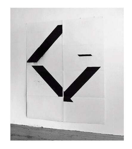 "Wade Guyton, '""X"" (Untitled, 2017, Epson Ultrachrome inkjet on linen), 84 x 69 in.', ca. 2017"