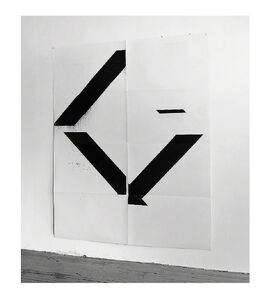 "Wade Guyton, '""X"" (Untitled, 2017, Epson Ultrachrome inkjet on linen), 84 x 69 in.', ca. 2017"