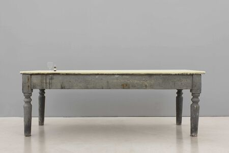 Gian Maria Tosatti, '4_Ritorno a casa - archeologia (tavolo con Novalgina)', 2015