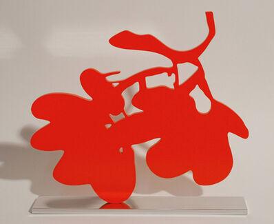 Donald Sultan, 'Red Lantern Flower', 2013