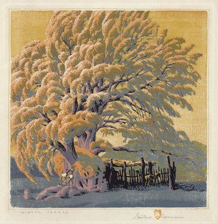Gustave Baumann, 'Winter Corral.', ca. 1940