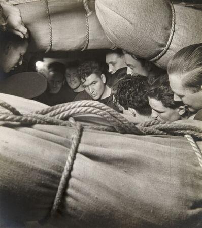 Cecil Beaton, 'Sailors Among Hammocks on the Mess Deck, HMS Alcantara, En Route to Sierra Leone', 1941