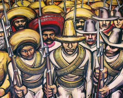 David Alfaro Siqueiros, 'From Porfirianism to the Revolution (Dal Porfirismo a la Revolucion) [detail]', 1964