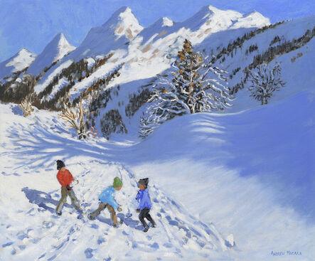Andrew Macara, 'Children in the Snow, La Clusaz'