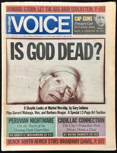 Andy Warhol, 'Warhol Dies! Set of 4 NY newspapers announcing Andy Warhol's death ', 1987